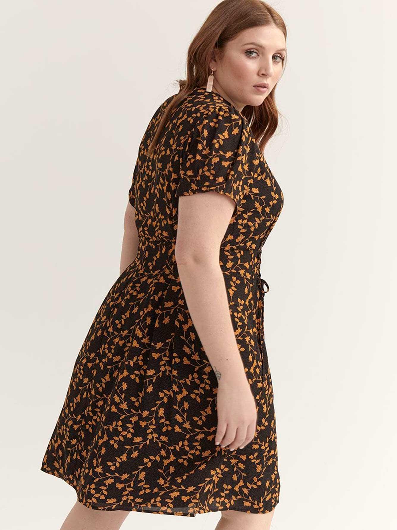 d2e92ec15 Floral Fit & Flare Short-Sleeve Dress - City Chic   Addition Elle