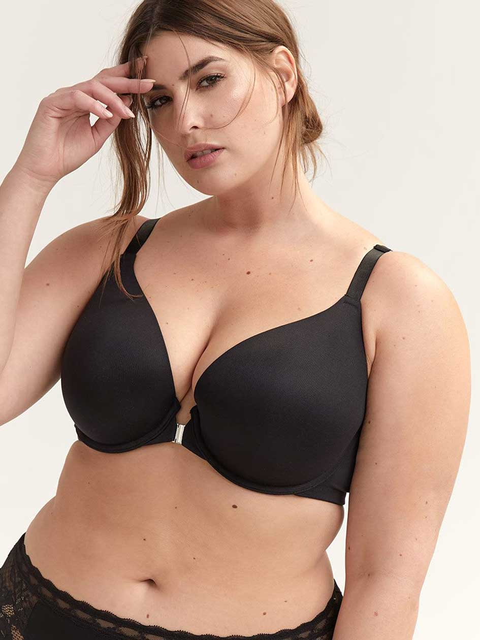 00105260be Plunge Bra with Front-Closure - Déesse Collection