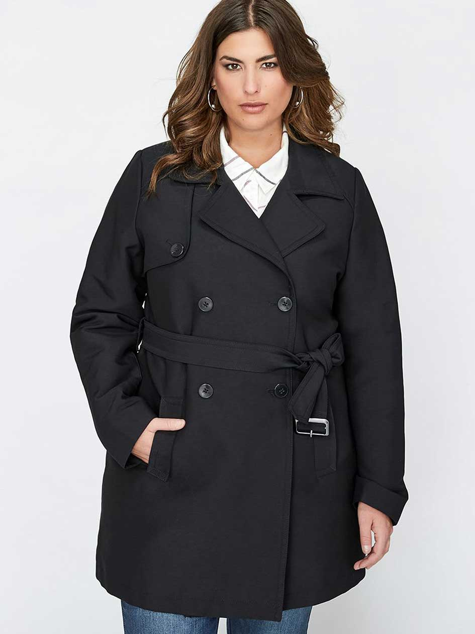 Michel Studio Double-Breasted Trench Coat