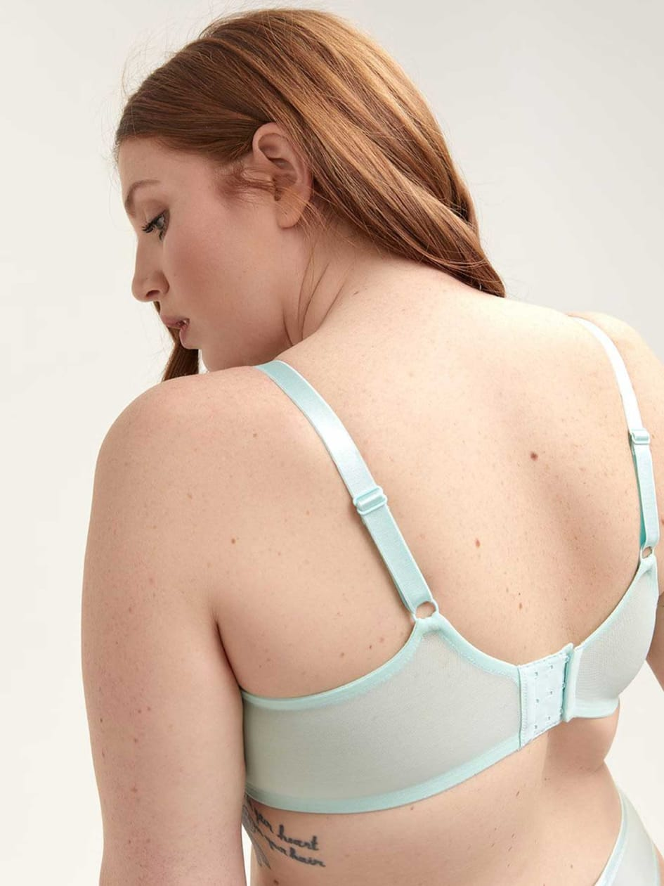 Balconette Bra with Cross-Dyed Lace - Collection Déesse