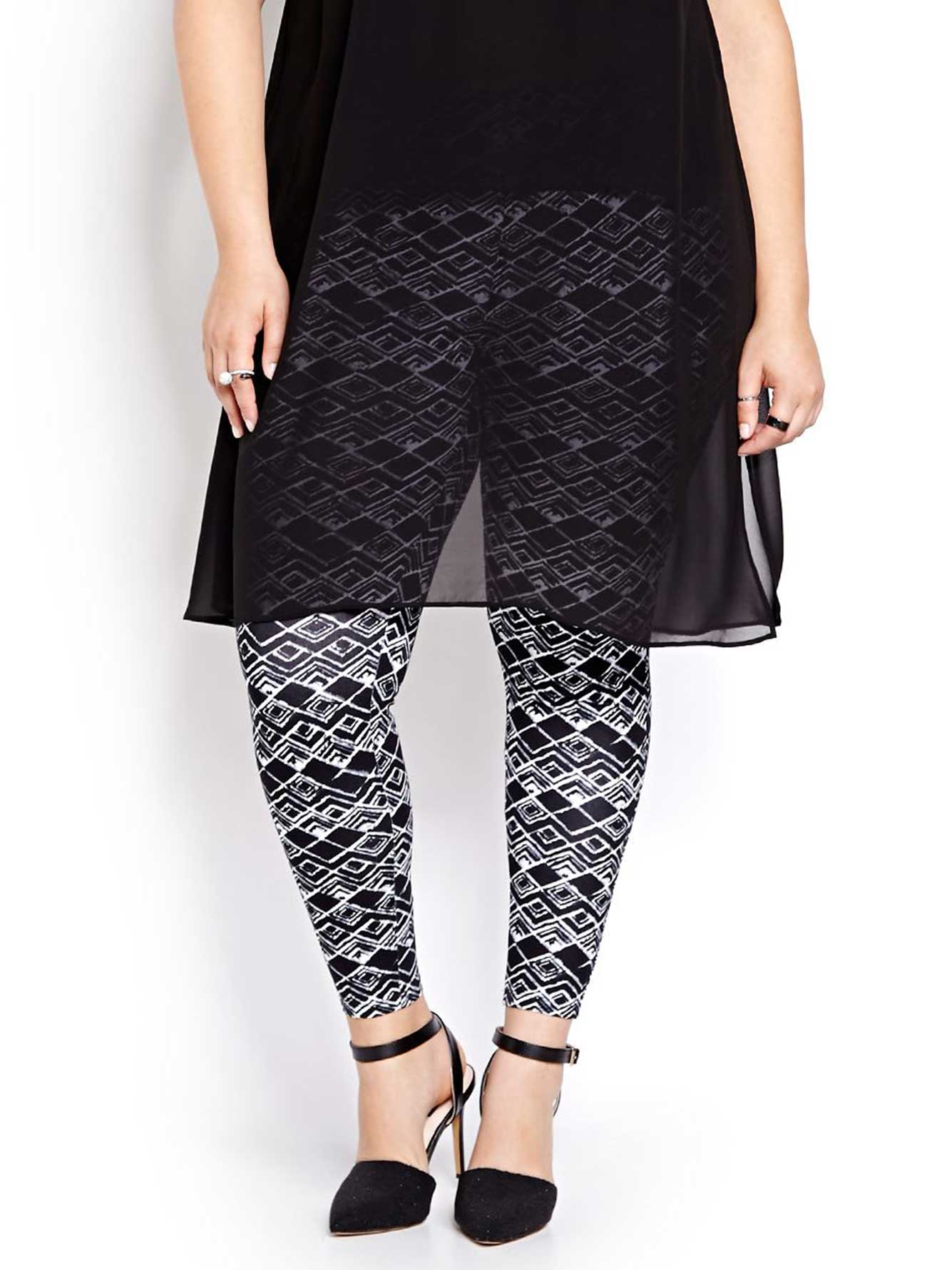 Geo Print Cotton Spandex Legging