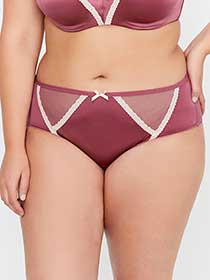 Low-Rise Panty with Lace Trim - Déesse Collection