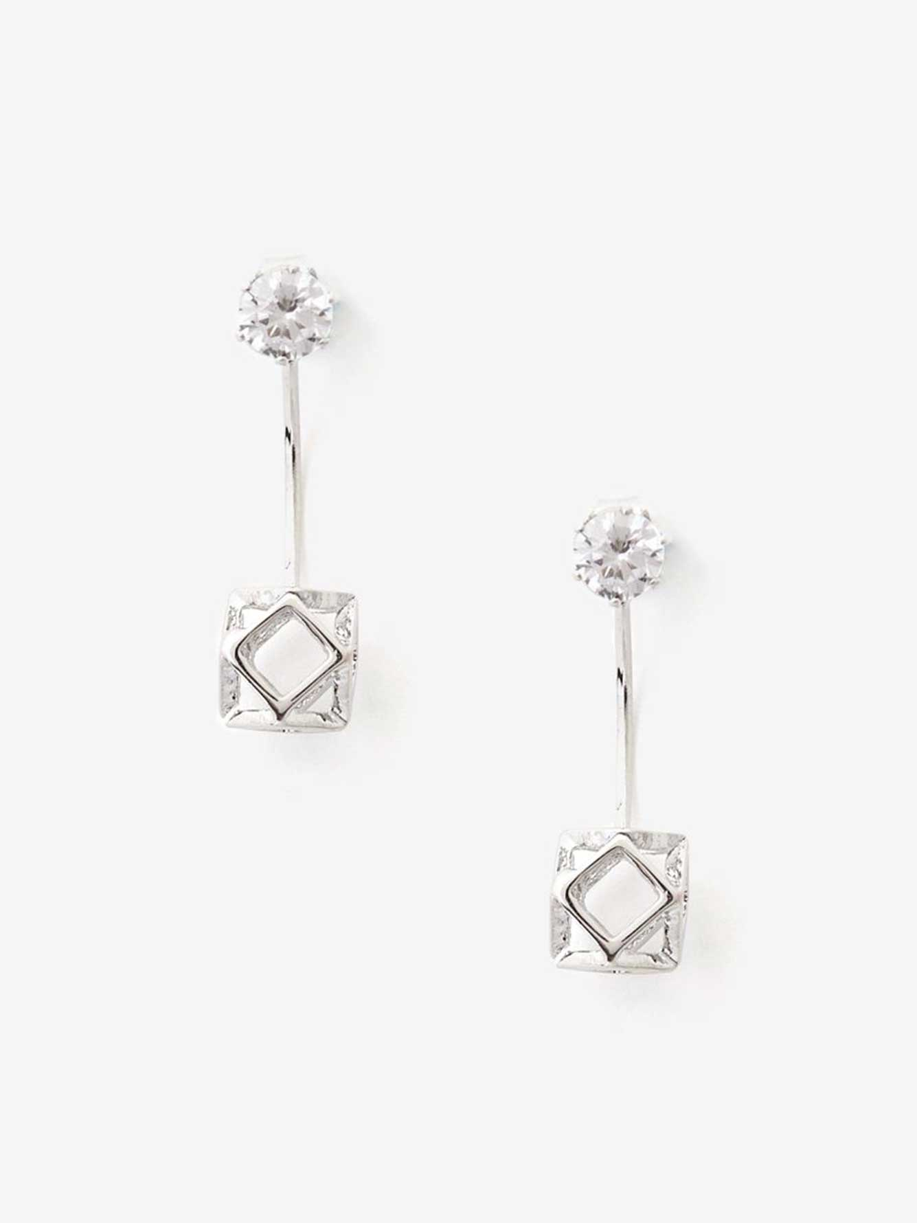 women star faux earrings flawless fashion ear clip asymmetrical diamond