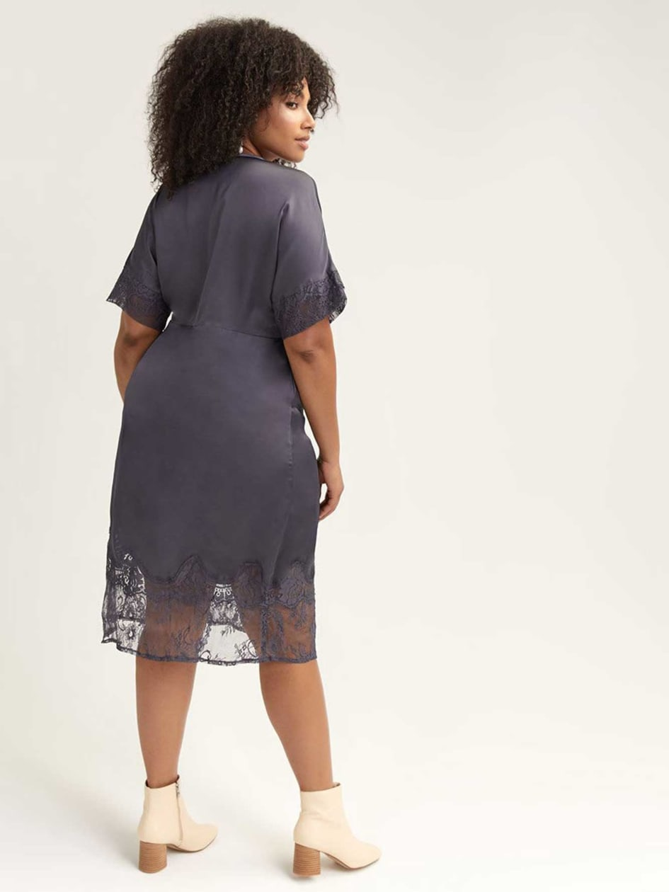 Midi Dress with Lace Details - Lost Ink