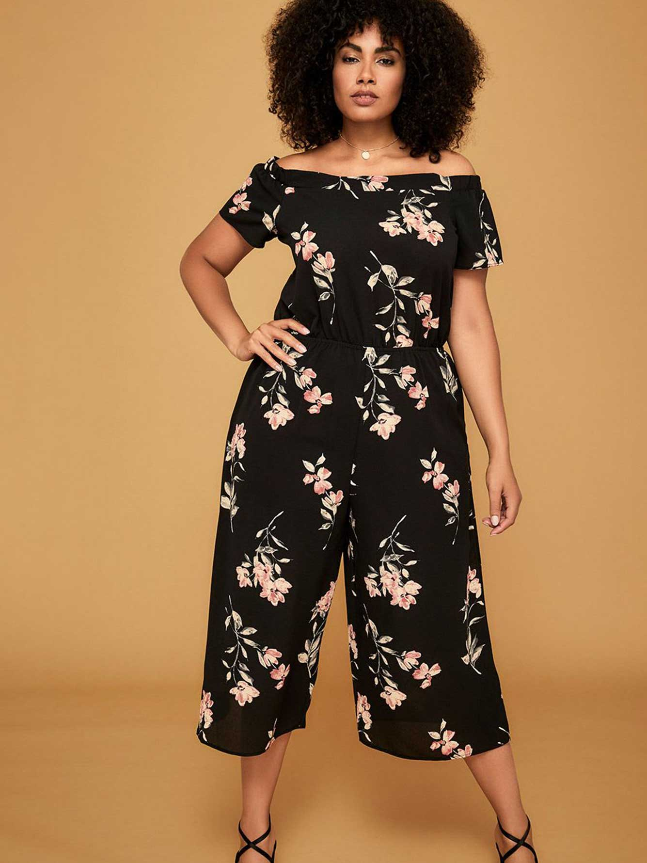 dbdd865fe2b Michel Studio Off-the-Shoulder Wide Leg Jumpsuit