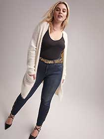 Skinny Jean with Embroidery Applique - L&L