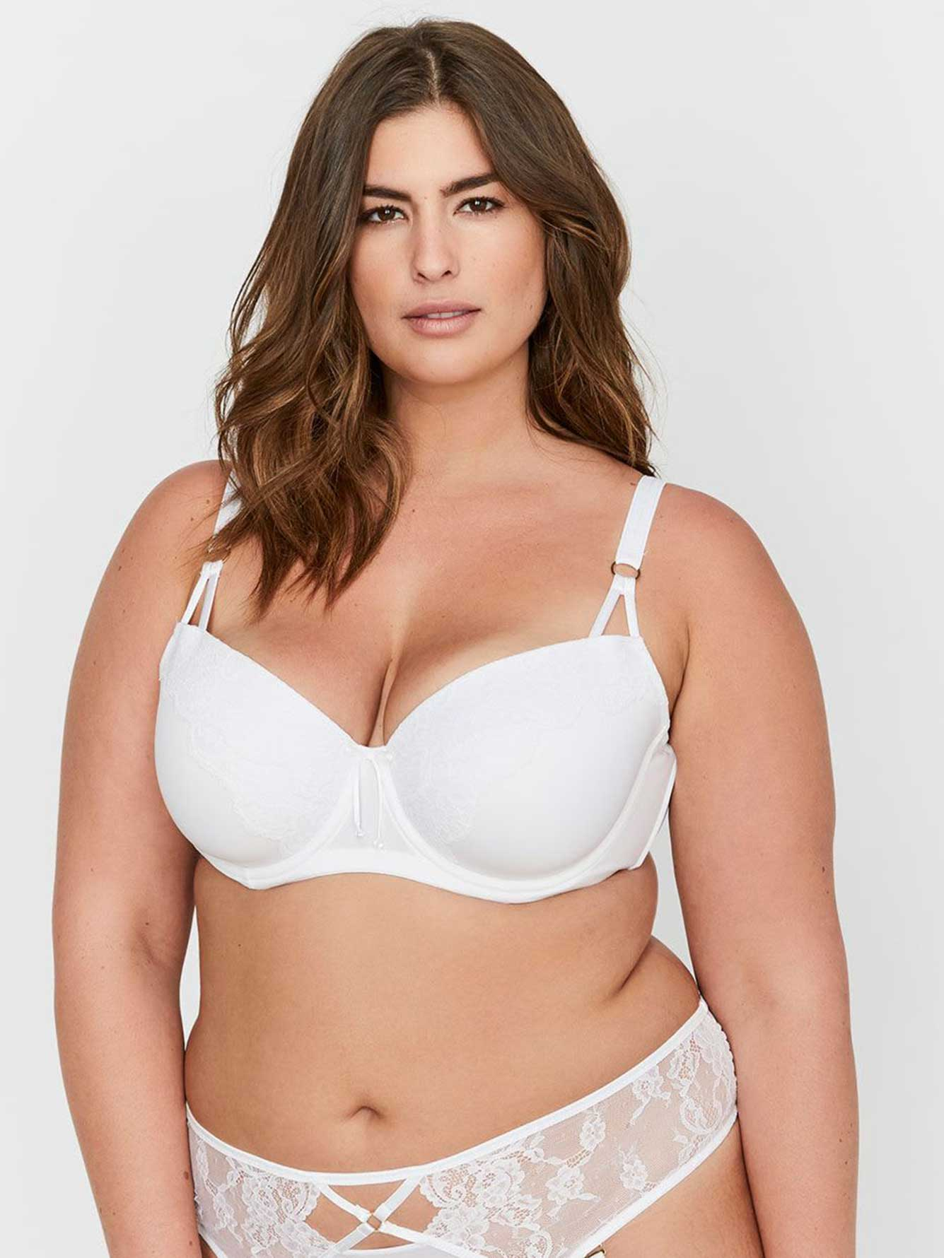 Ashley Graham Lace and Thin Micro Fiber Showstopper Bra