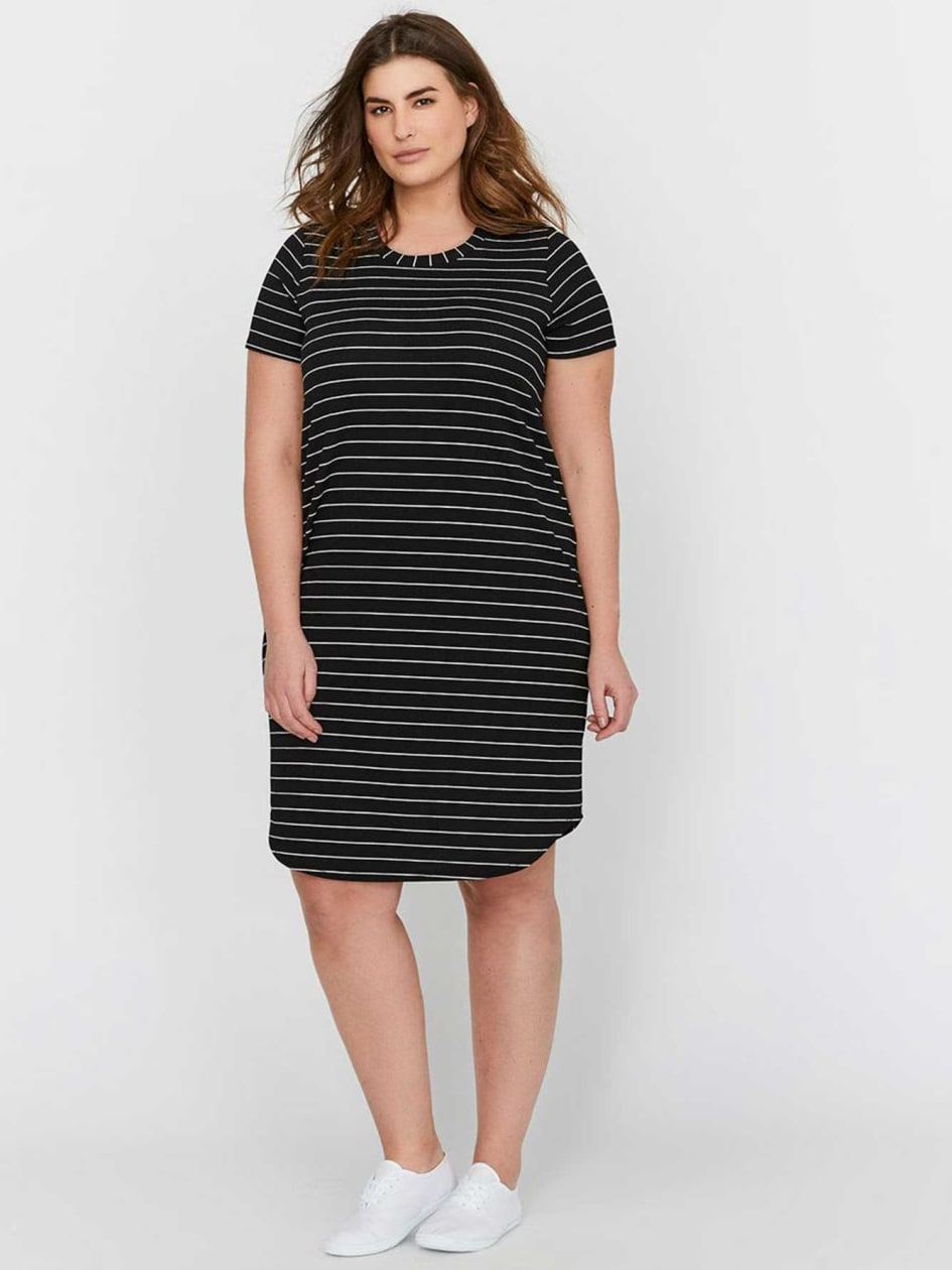 L&L Striped Shirt Dress