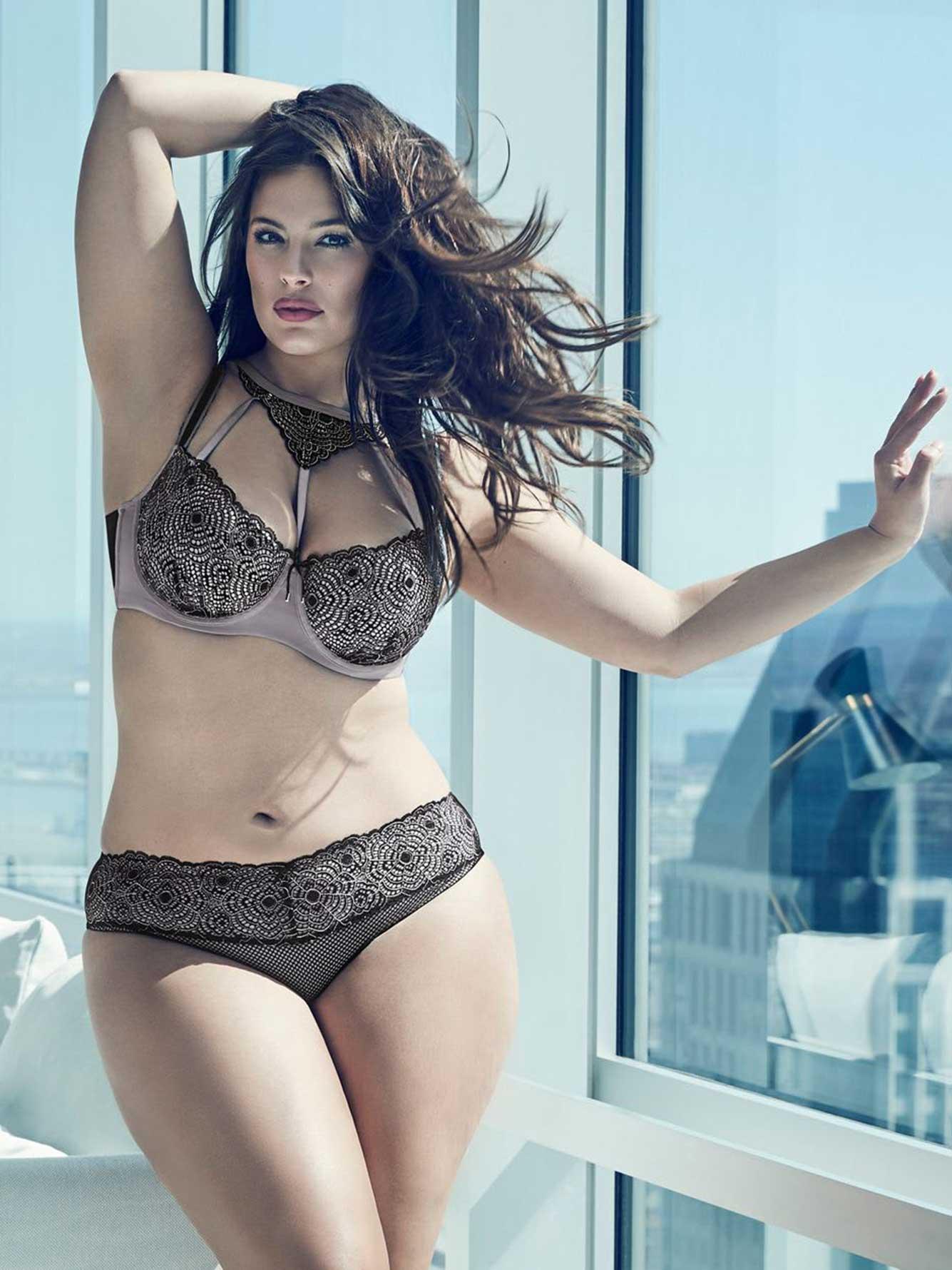 ashley graham diva bra with web lace addition elle. Black Bedroom Furniture Sets. Home Design Ideas