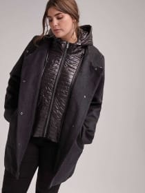 Casual City Fooler Dark Grey Coat - Marcona