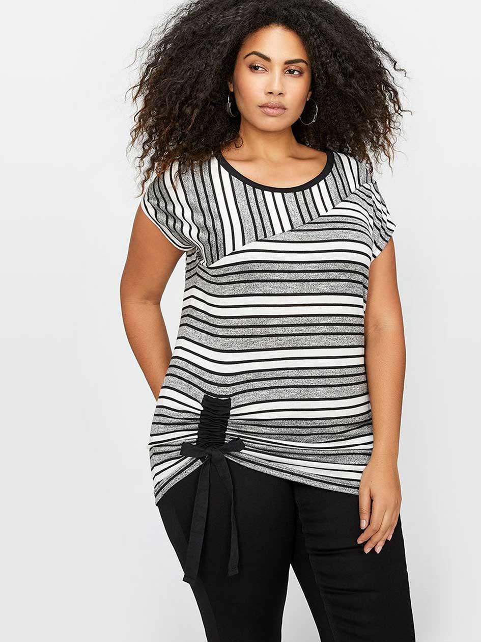 L&L Striped T-Shirt with Drawstring