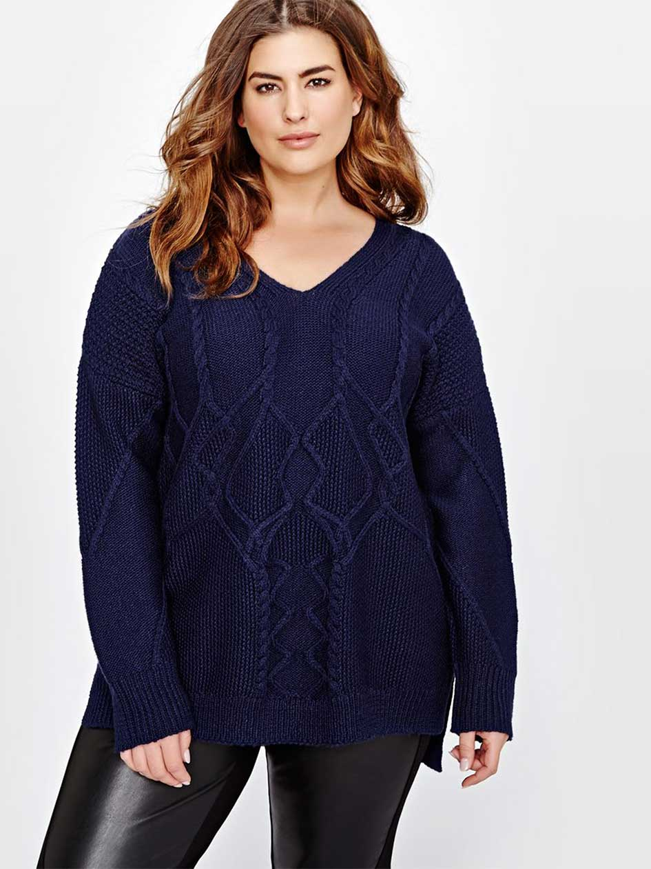 Rachel Roy Cable Knit Sweater