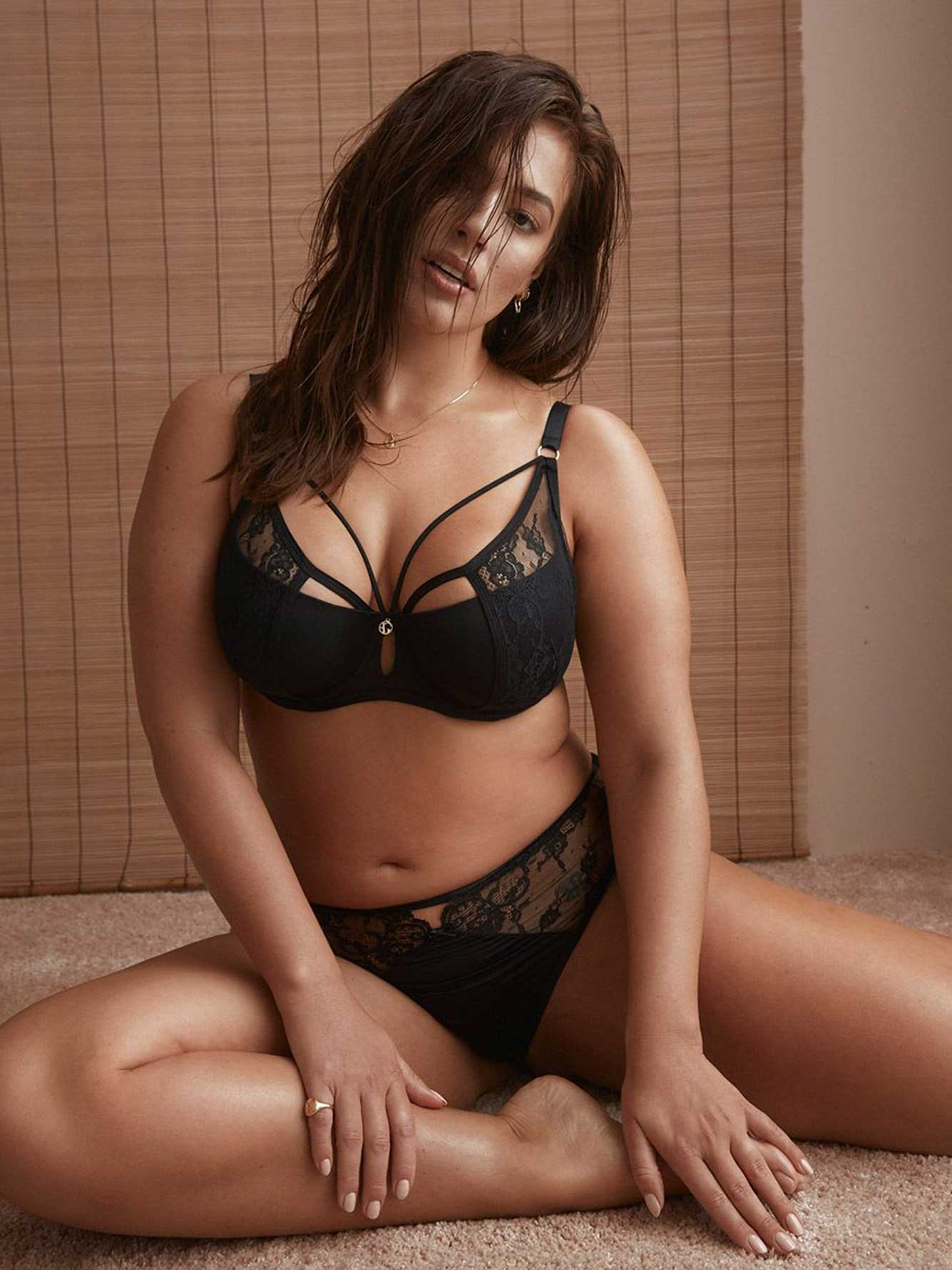 af0bdb80d3 Micro Jersey Demi Cup Diva Bra with Lace - Ashley Graham