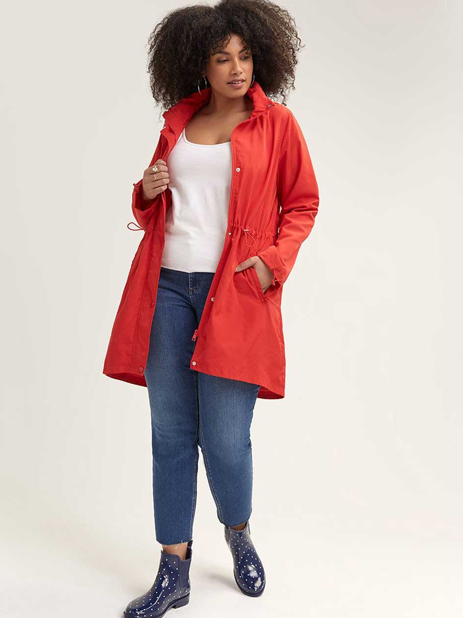 9e20588b5cb Long Packable Anorak - Michel Studio