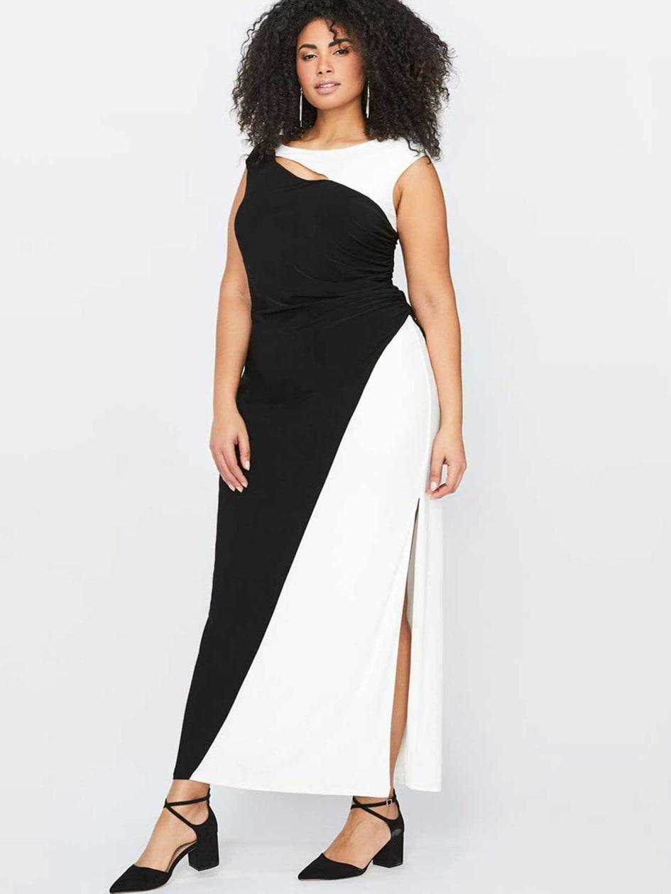 Color-block Sleeveless Maxi Dress