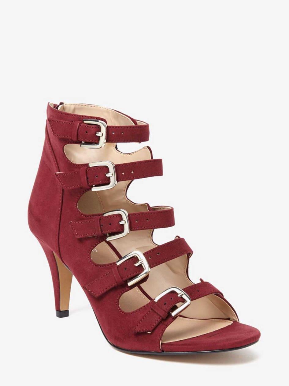 Naya Multi Buckle Open Toe High Heel Show 769980