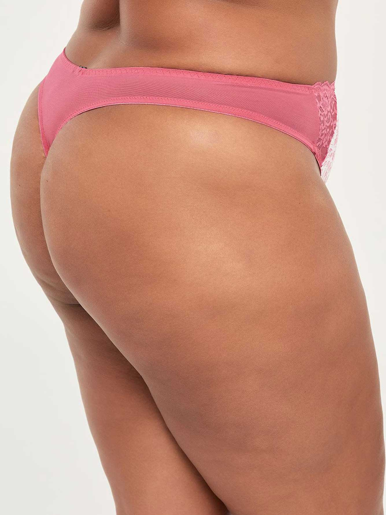Thong Panty with Lace and Mesh - ti Voglio