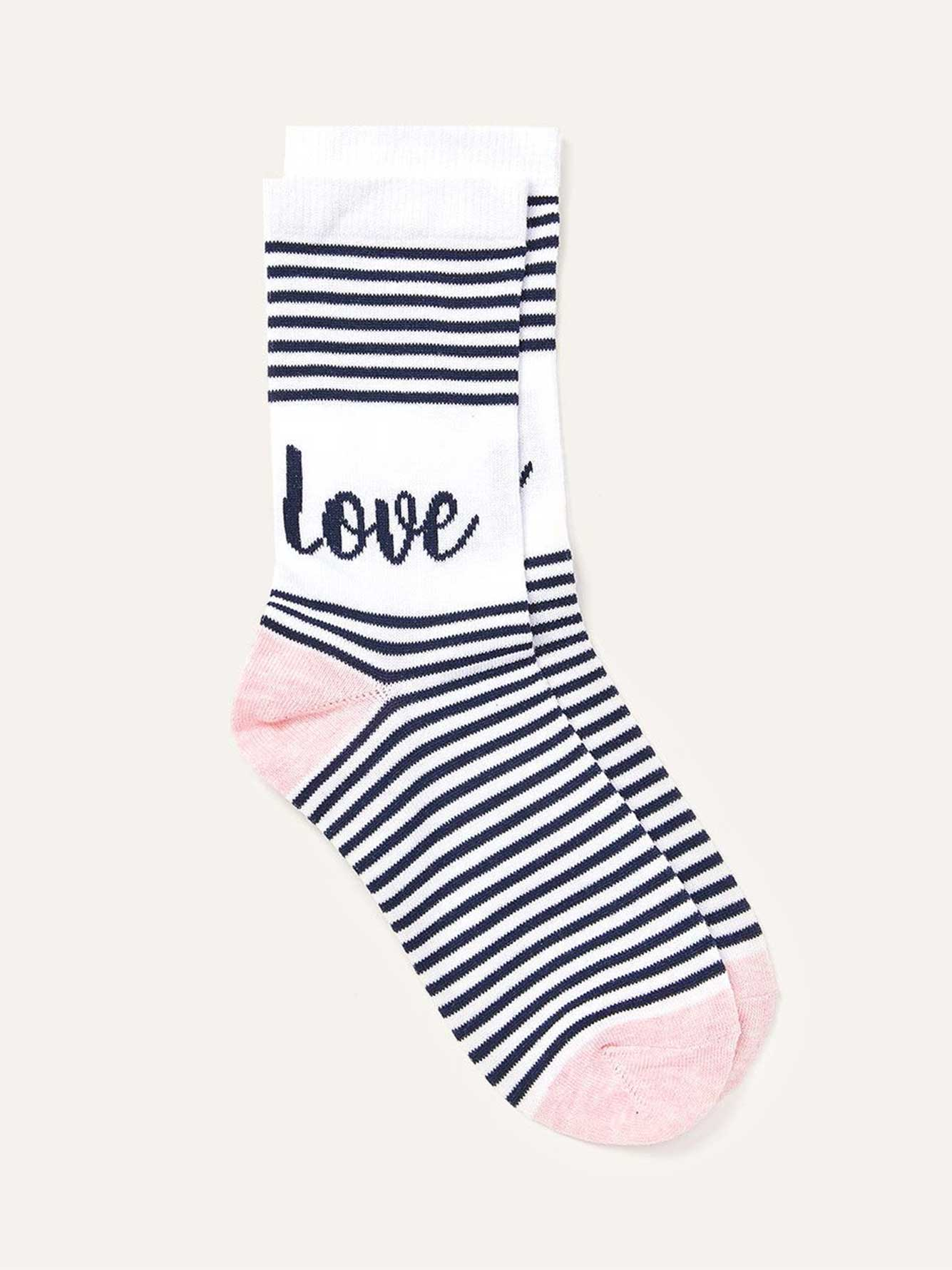 Striped Roll Up Socks by Addition Elle