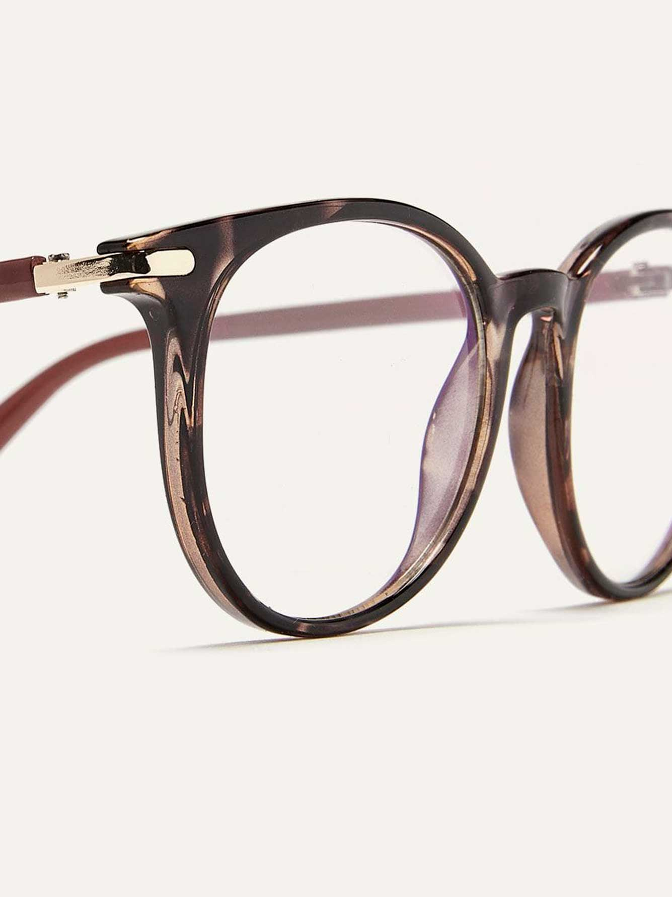 Blue Lens Glasses with Tortoise Frame