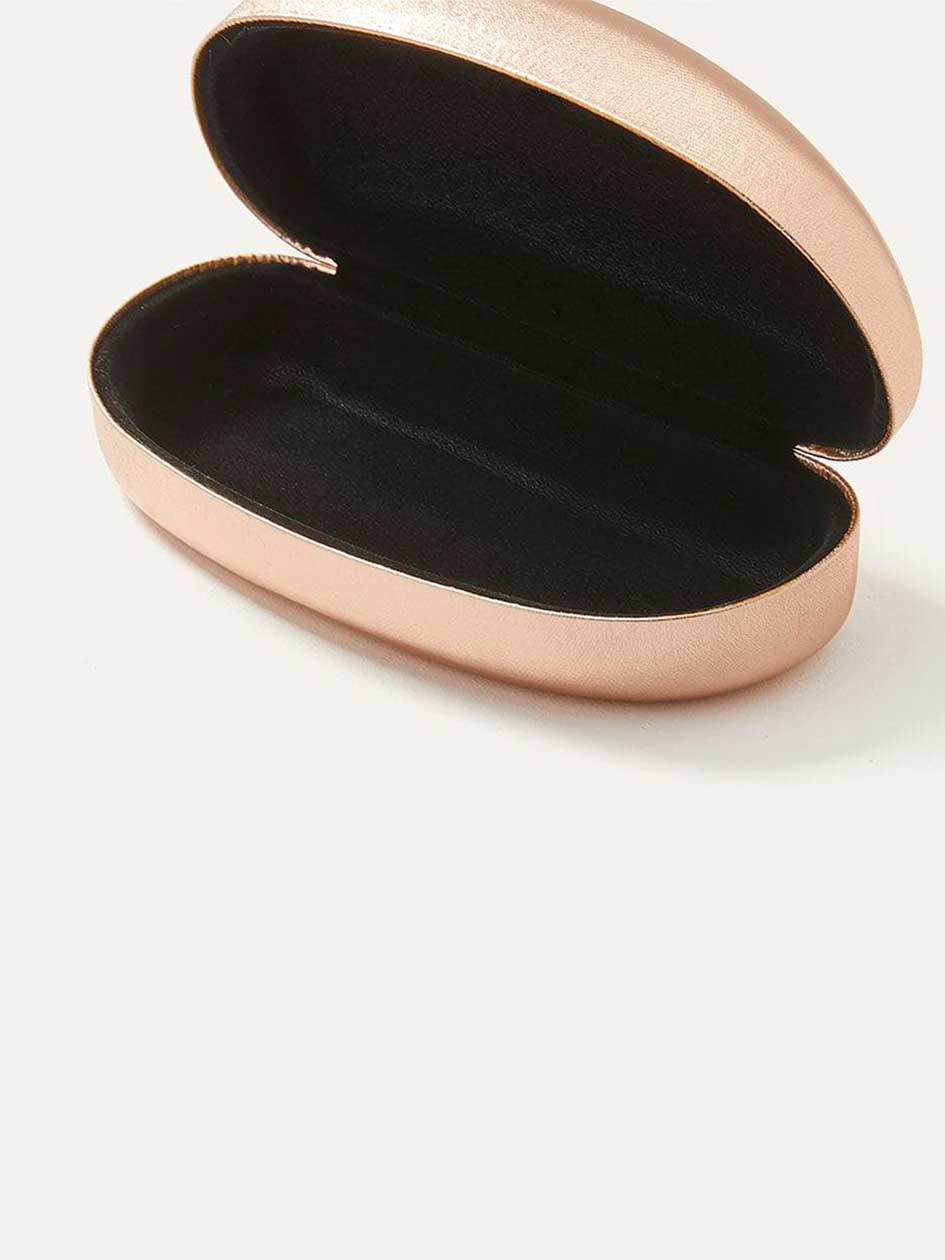 Hard Shell Metallic Sunglasses Case