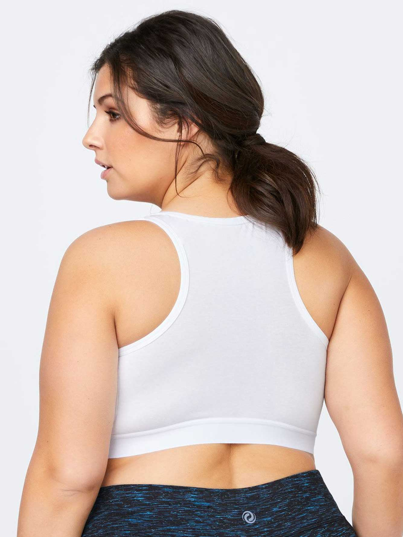 Cotton Plus-Size Bralette with Mesh - ActiveZone