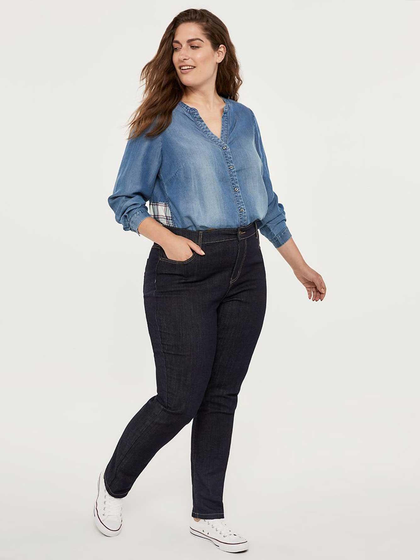 ef8b566048f ONLINE ONLY- Tall Curvy Fit Straight Leg Jean - d C JEANS ...