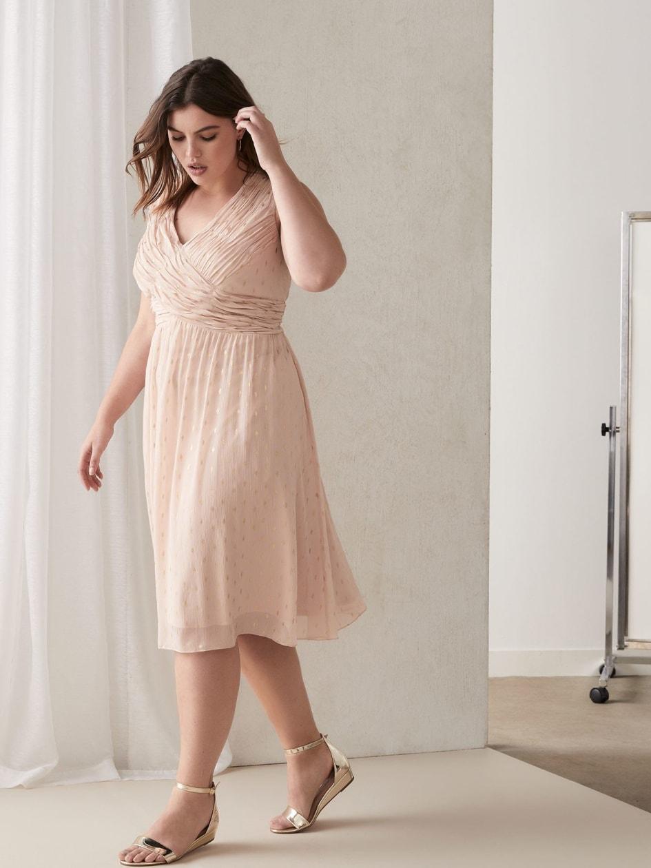 eb3a2a505ce Draped Sleeveless Georgette Dress