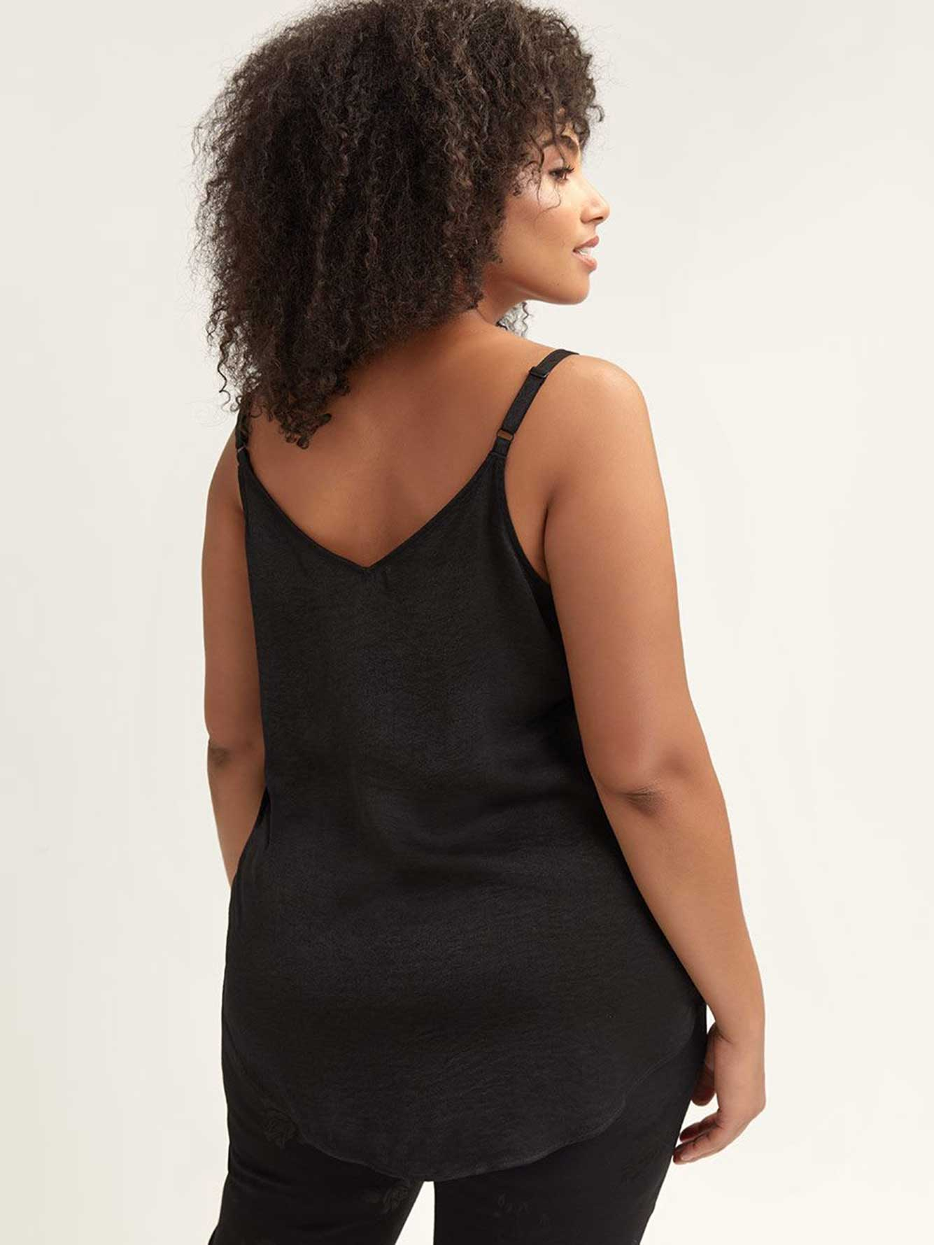 Camisole col V avec boutons