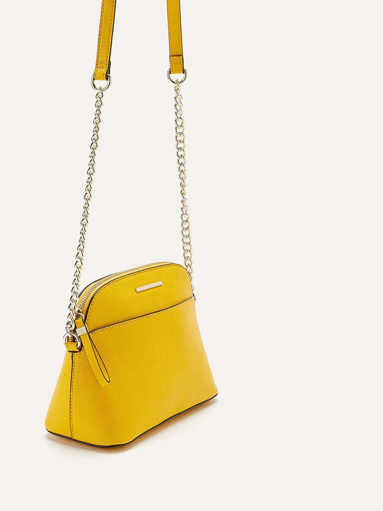 Solid Dome Crossbody Bag