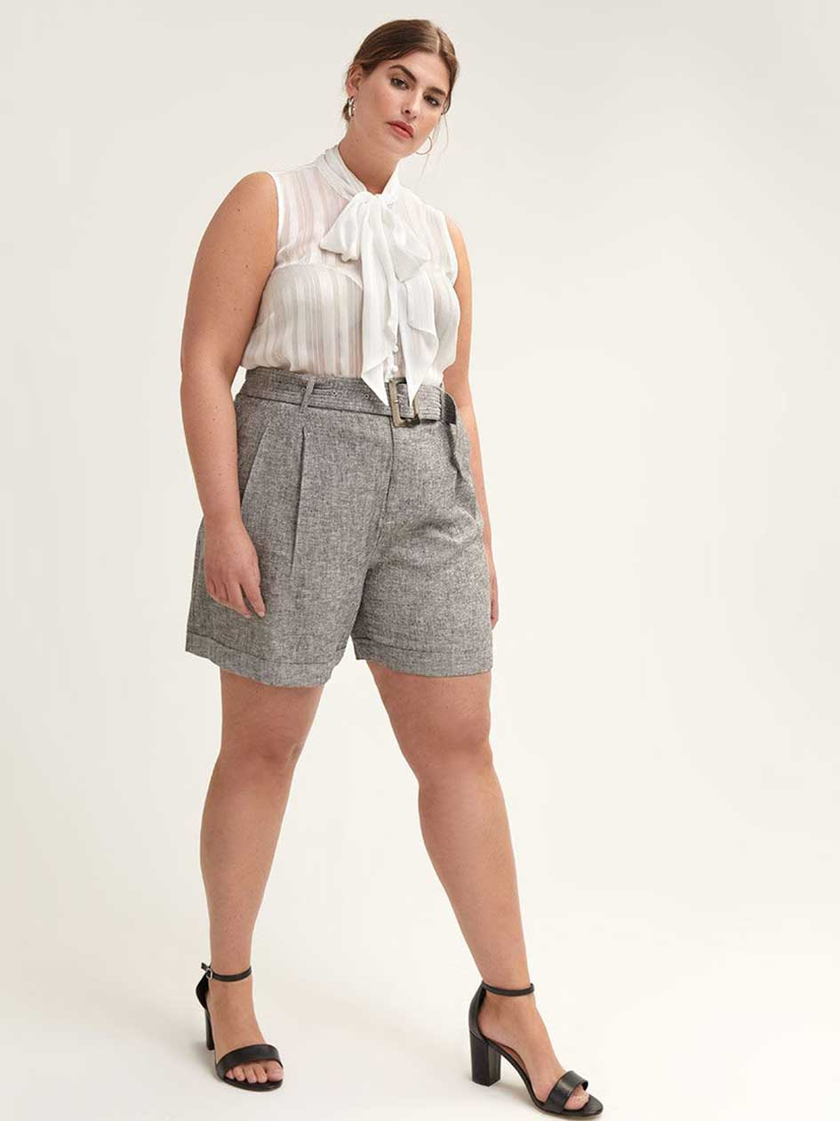 e3710c87d81fc Women's Plus Size Shorts, Capris & Skorts | Addition Elle