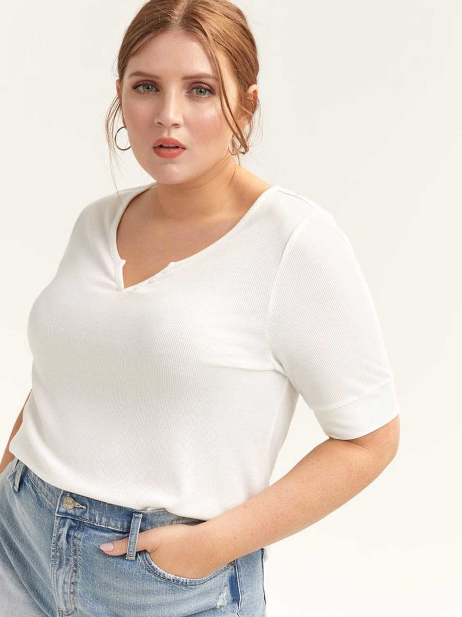 c624f037 Women Plus Size Tops, Blouses & Shirts Online | Addition Elle