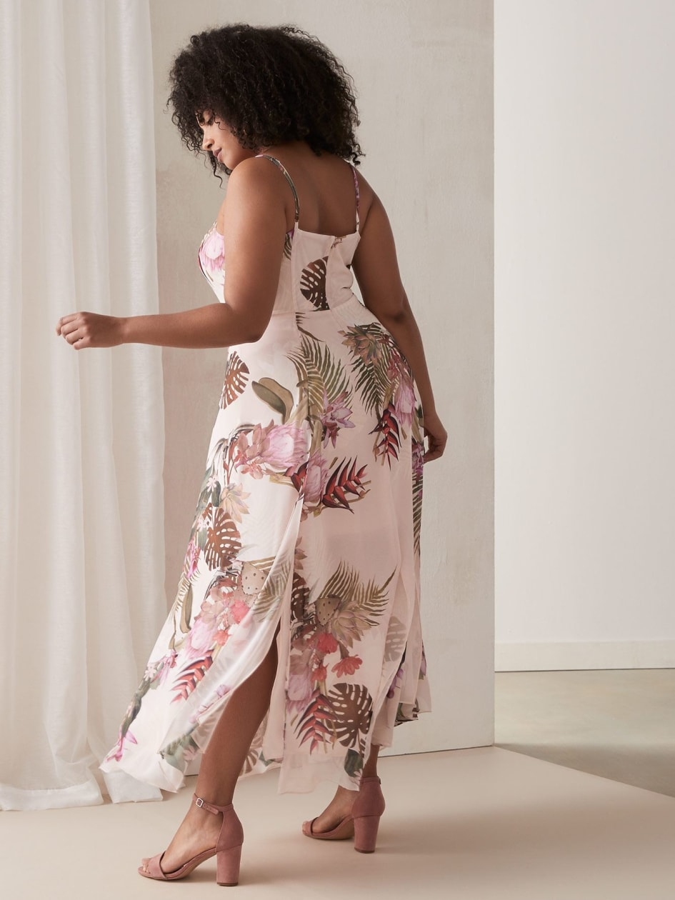 Robe longue fleurie - City Chic