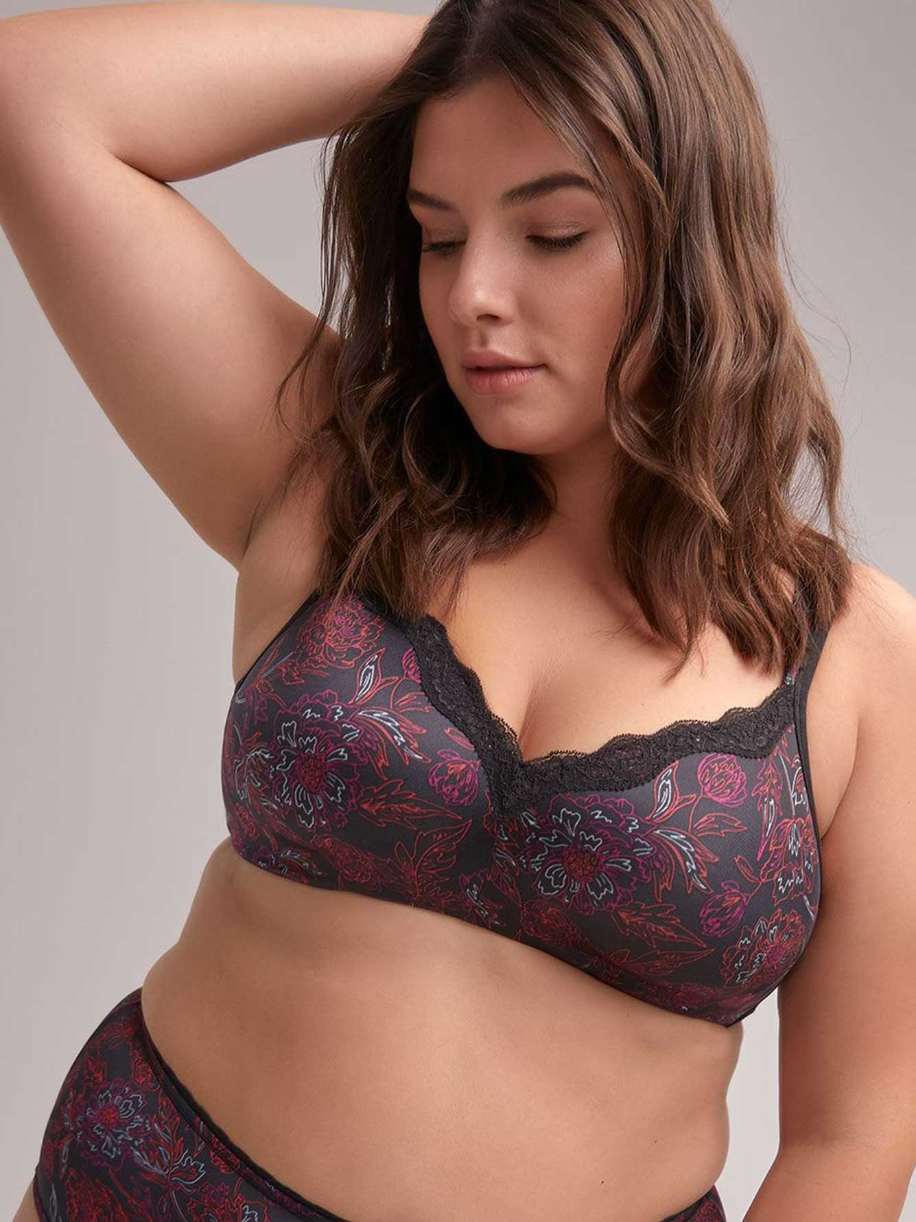 083376a954 Floral Padded Wirefree Bra with Lace