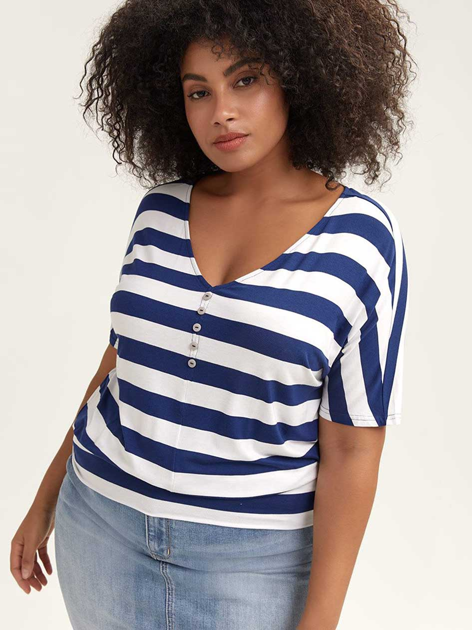 b331ed5b02e50 Striped Yarn-Dye Knit Top