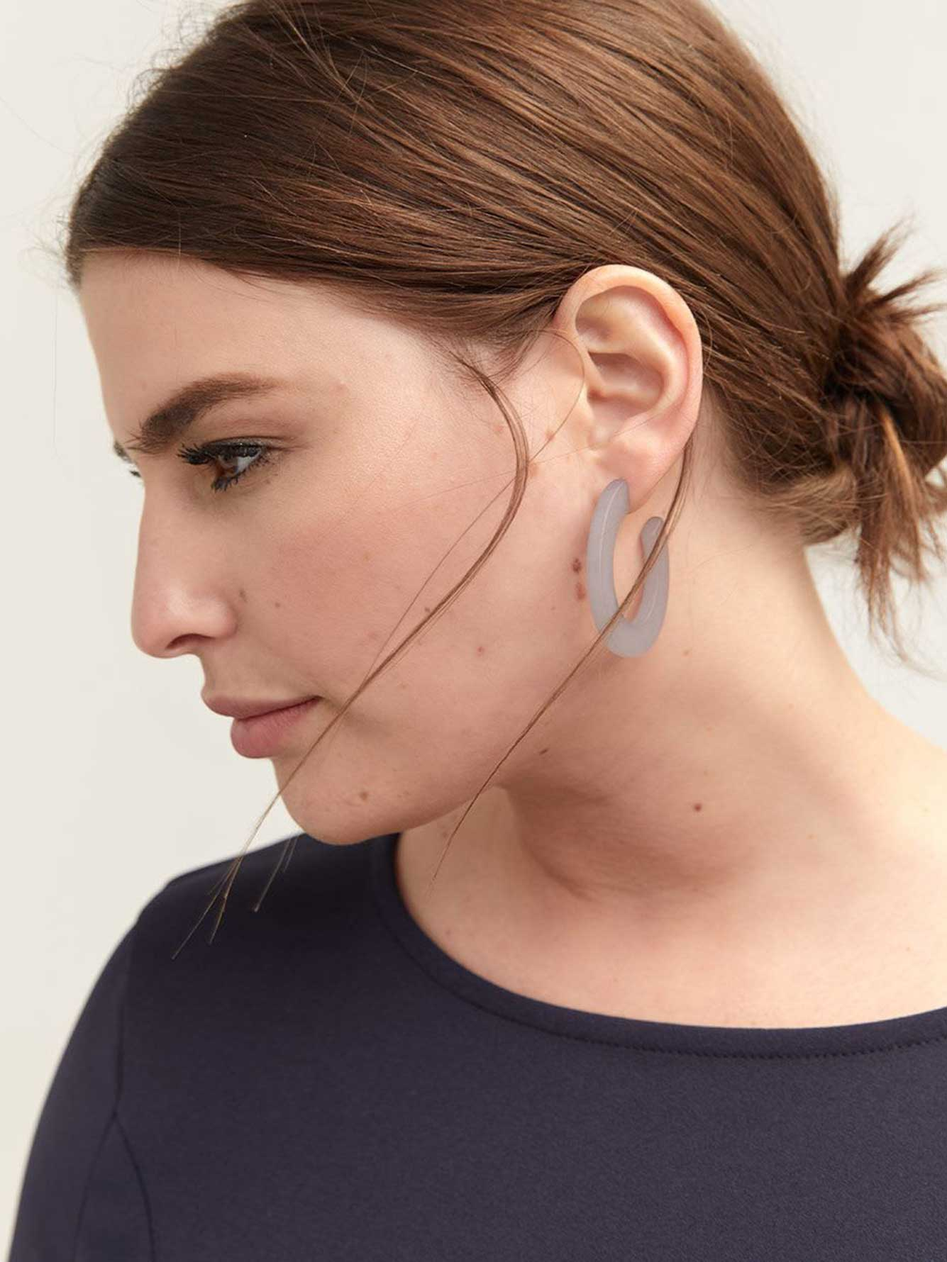 Plastic Hoop Earrings