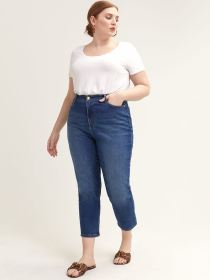 Cropped Jean with Slim & Straight Leg