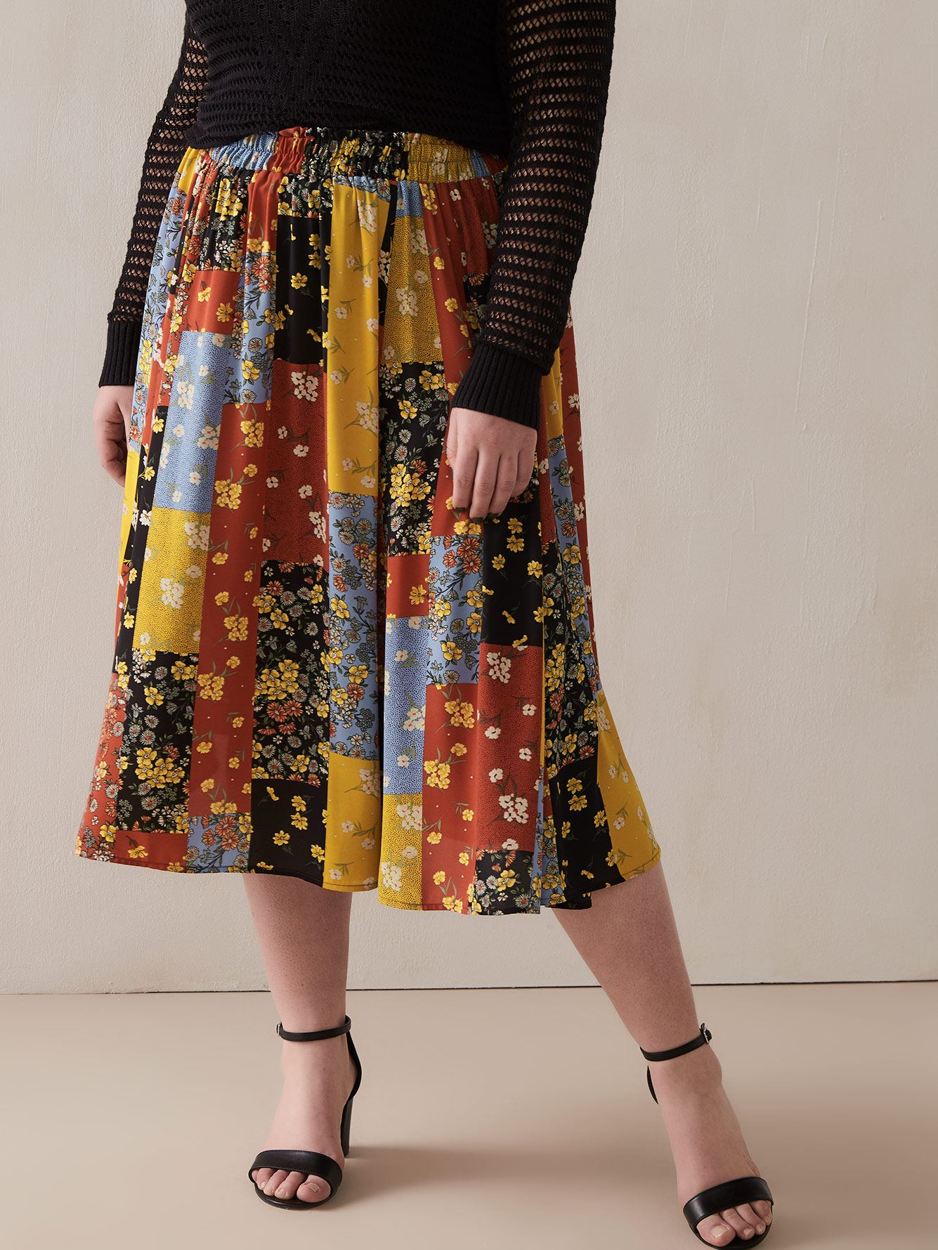 Pull On Flare Skirt by Addition Elle