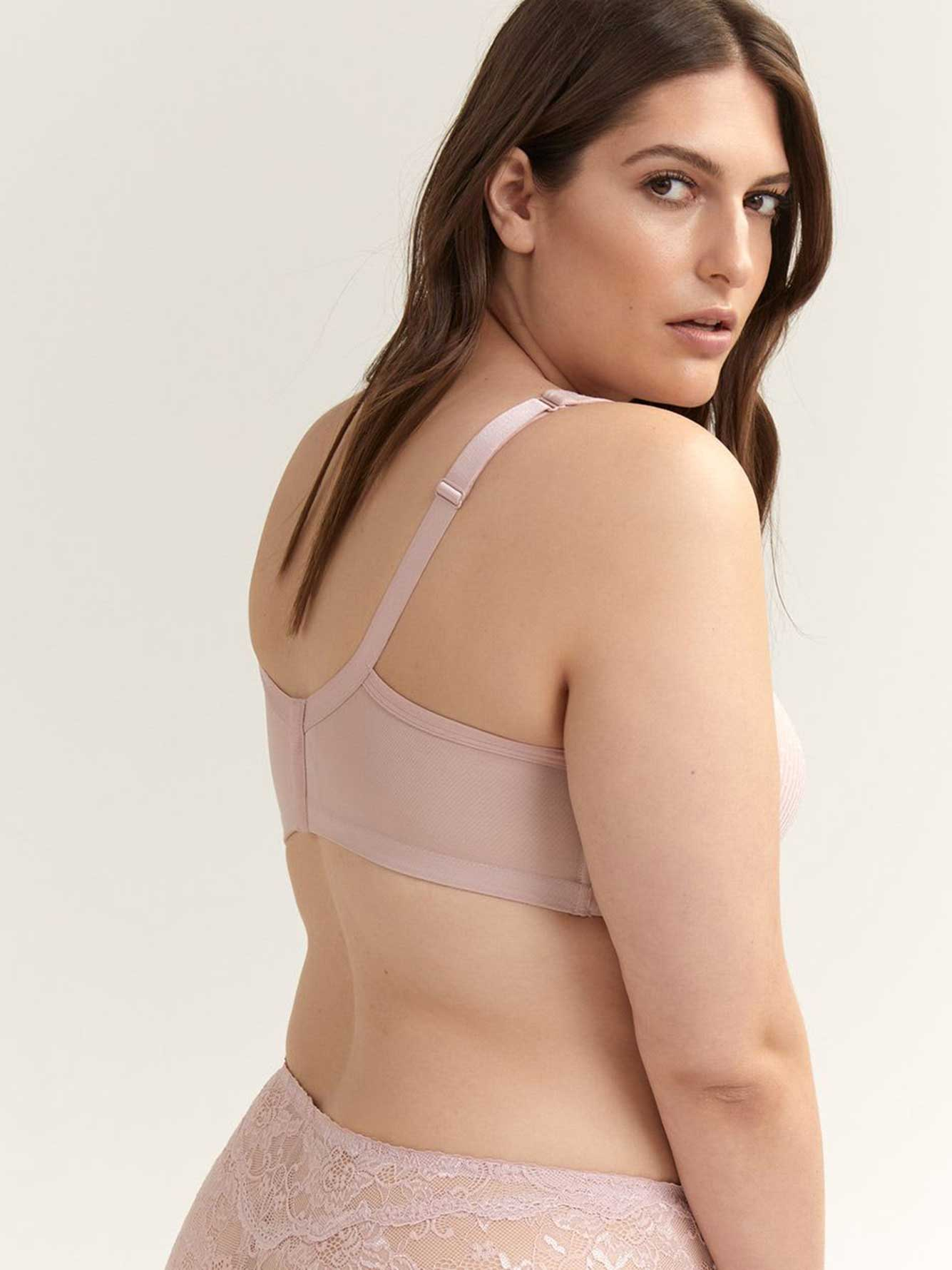 d8bb1b1ced Jacquard Padded Wirefree Bra with Lace