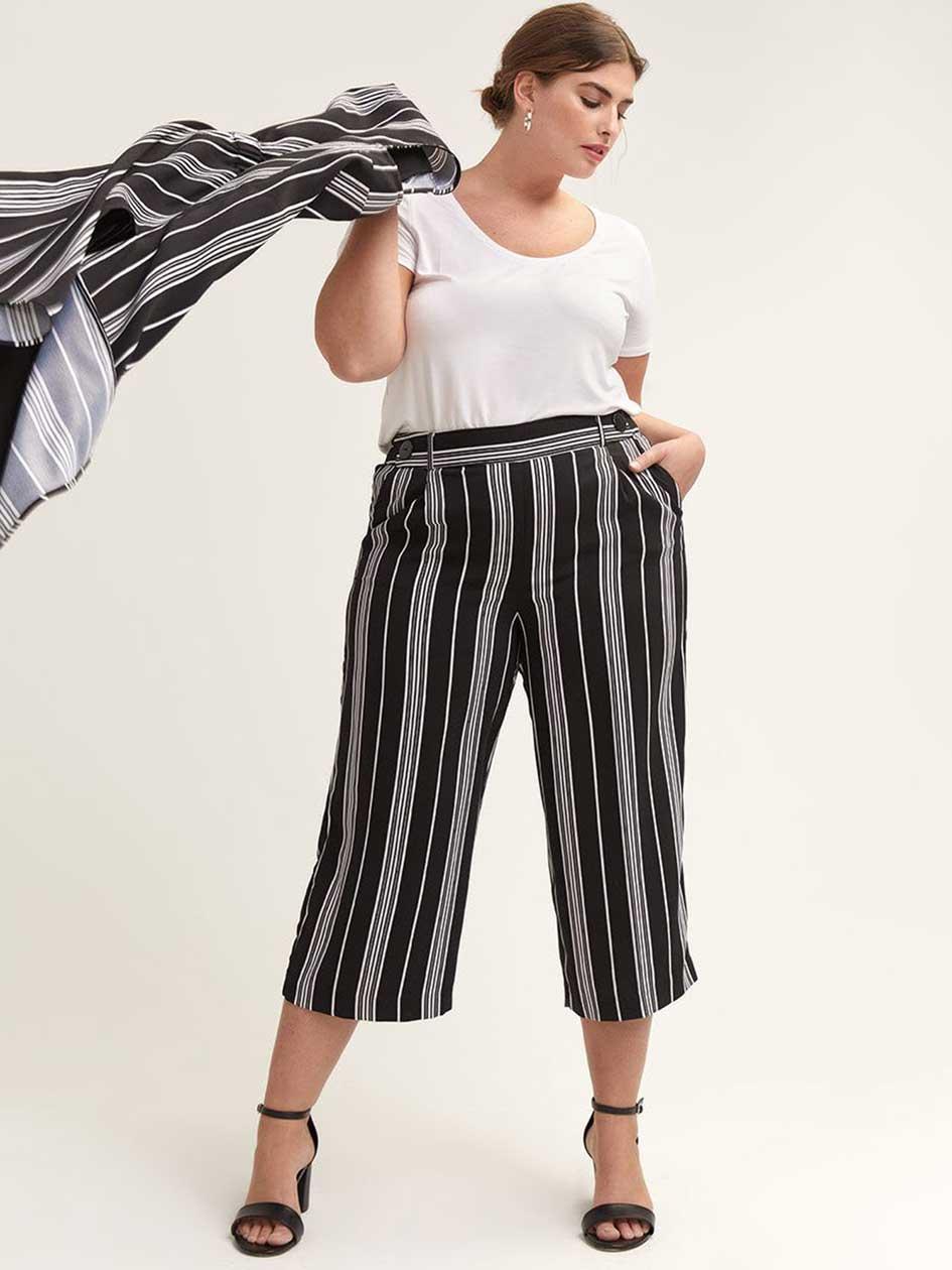 e2531e9b4f Women's Plus Size Wide Leg Pants| Addition Elle