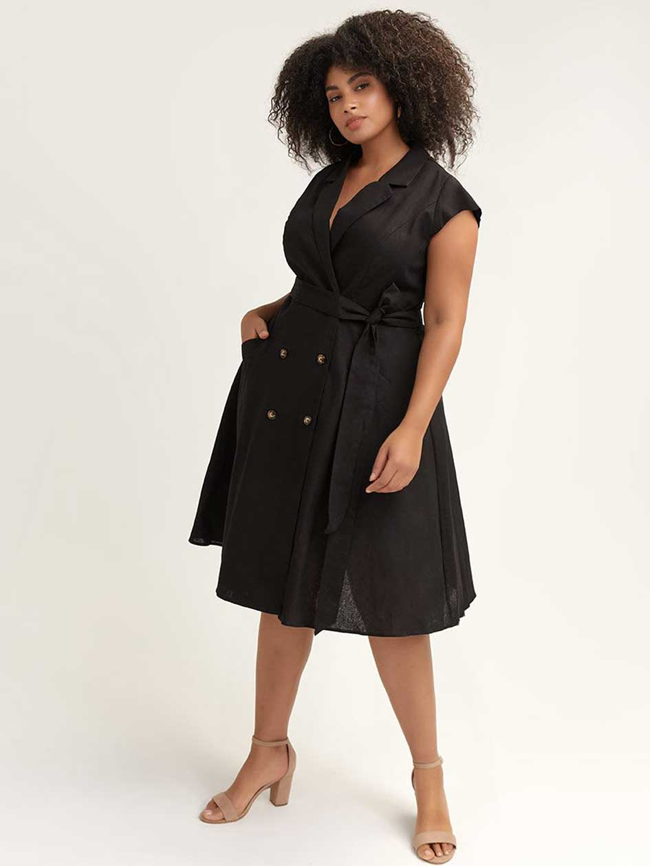 1e77e16789194 Belted Cotton Trench Dress - City Chic