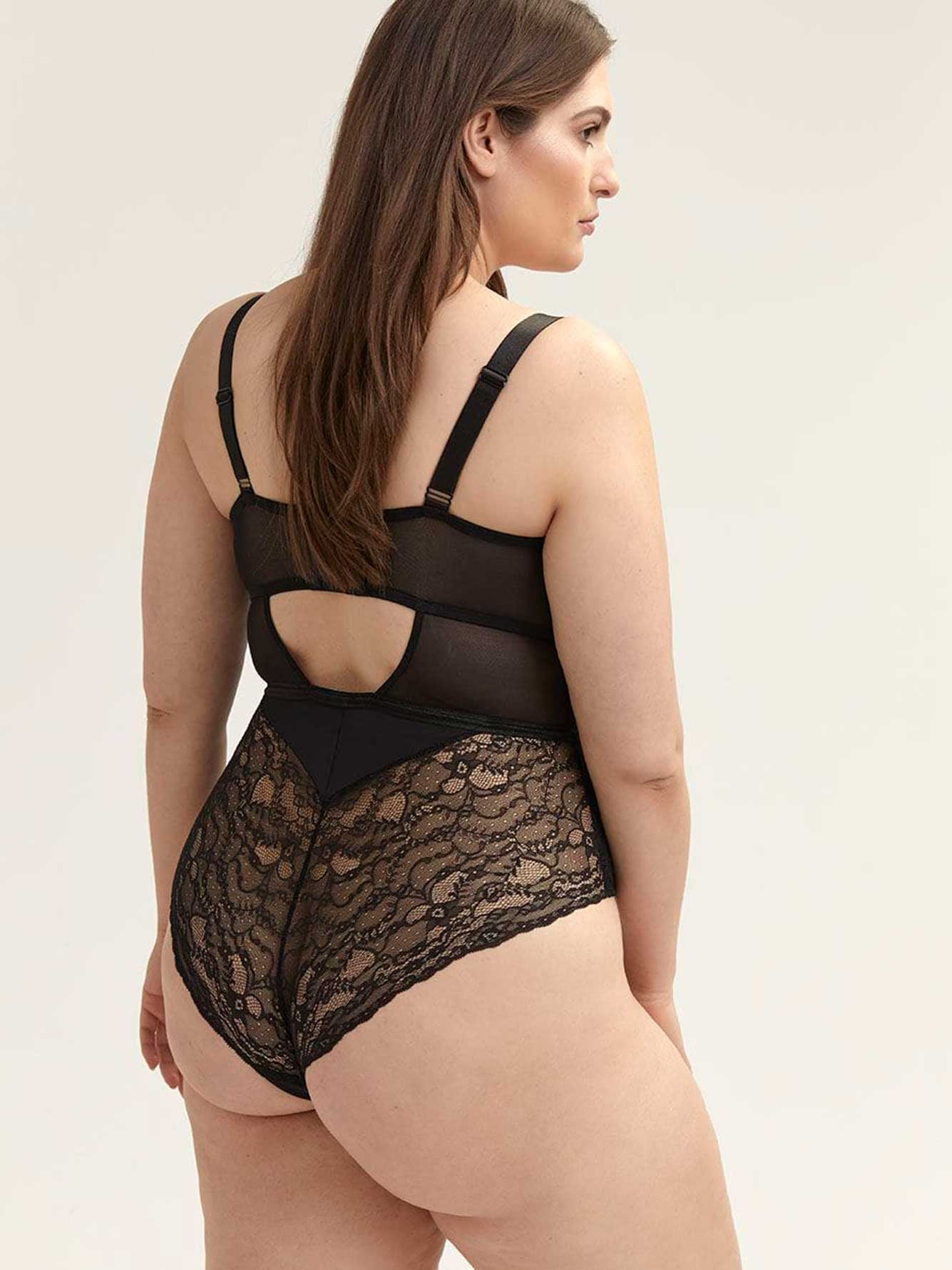 Sexy Lace and Mesh Bodysuit - ti Voglio