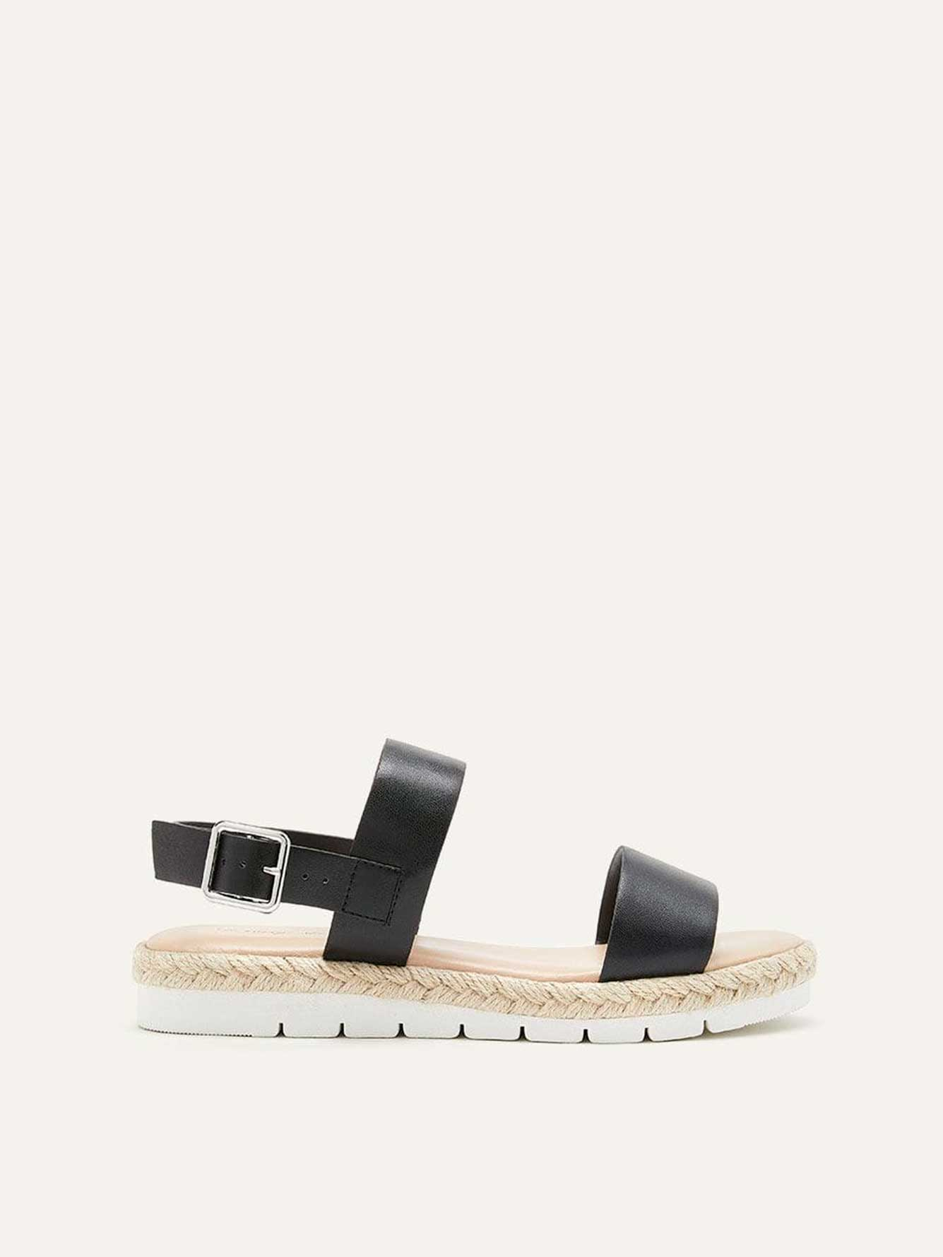 6e7292357 Wide Flat Solid Sandals