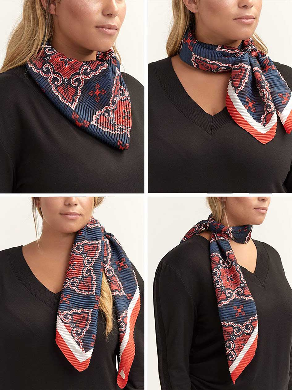 Printed Textured Long Scarf