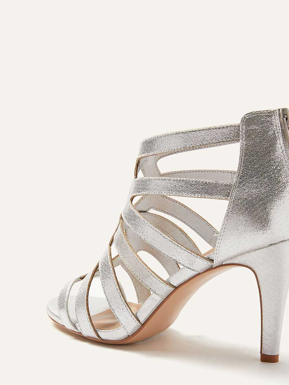 Wide Caged High Heel Sandals