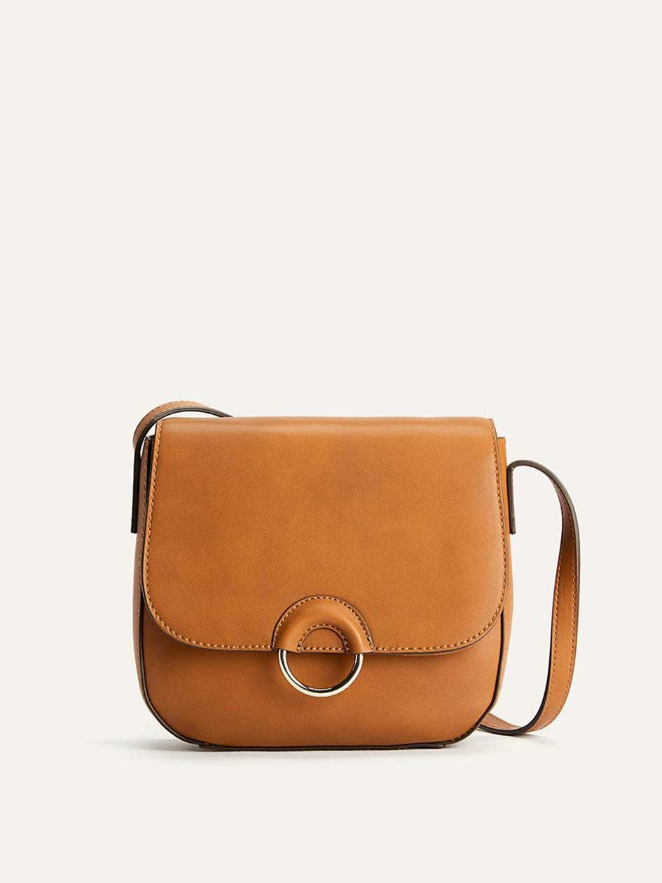 Solid Crossbody Handbag