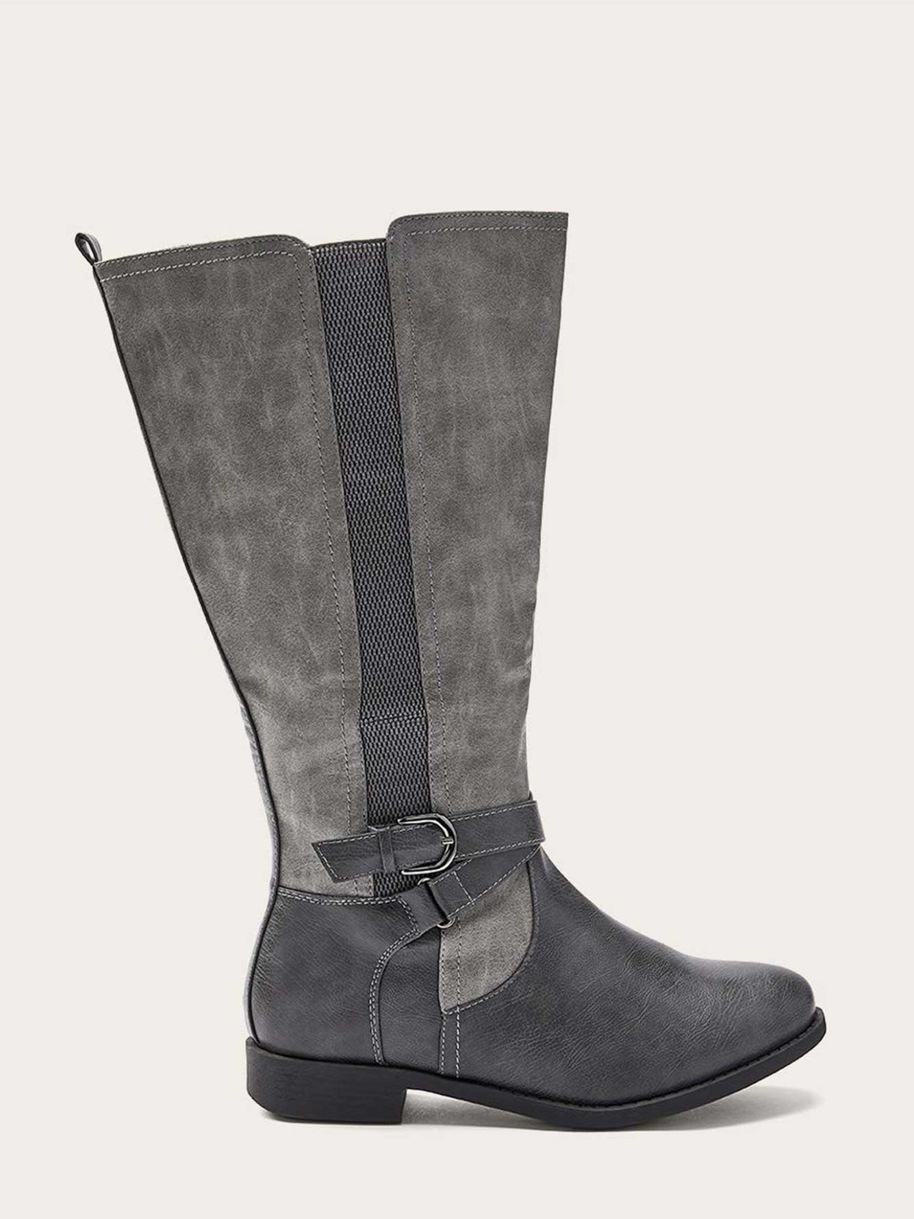 a1d911bbf51 Extra Wide Calf Tall Boots with Buckle