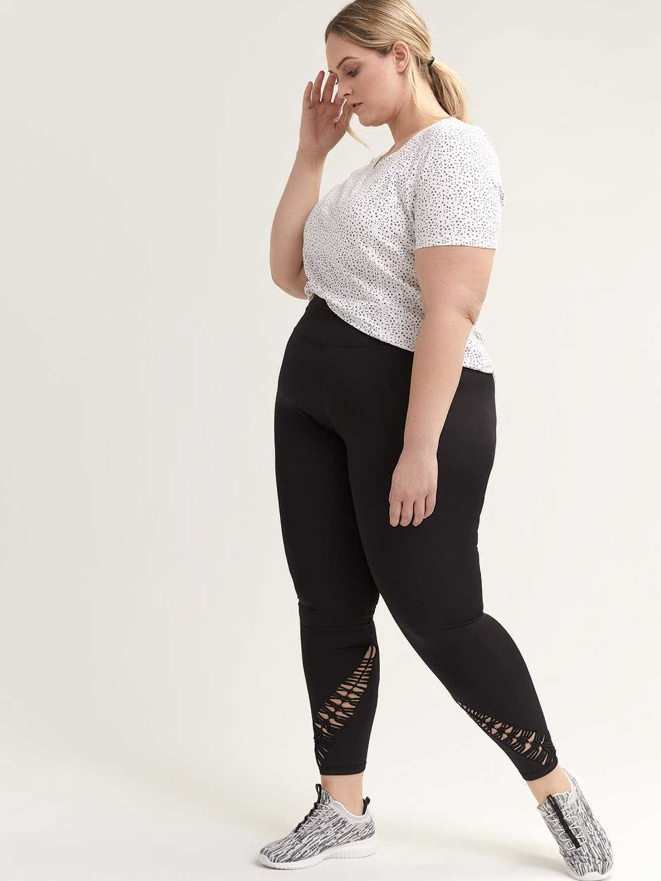 Legging With Macrame Insert   Active Zone by Addition Elle
