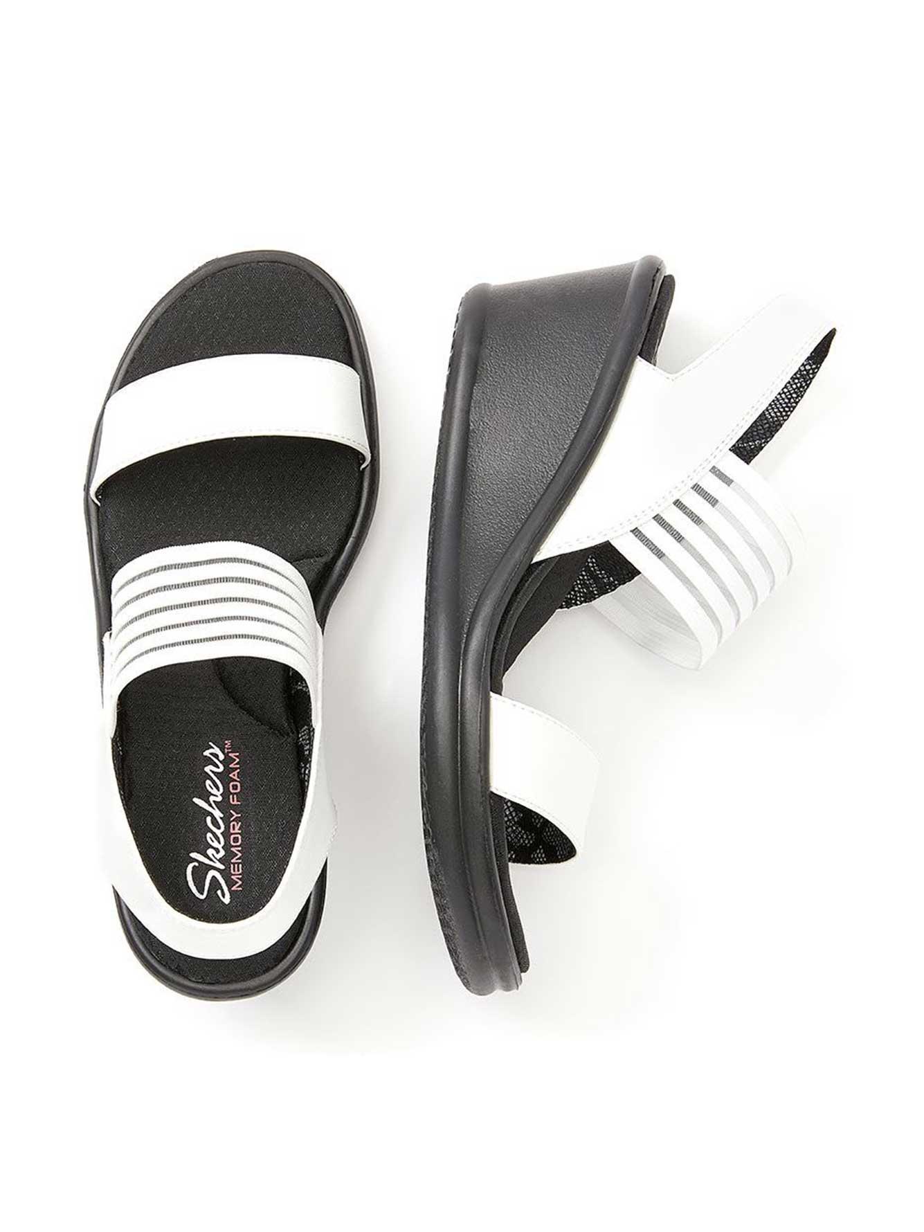 7bf6338446ed Wide-Width Wedge Sandals - Skechers