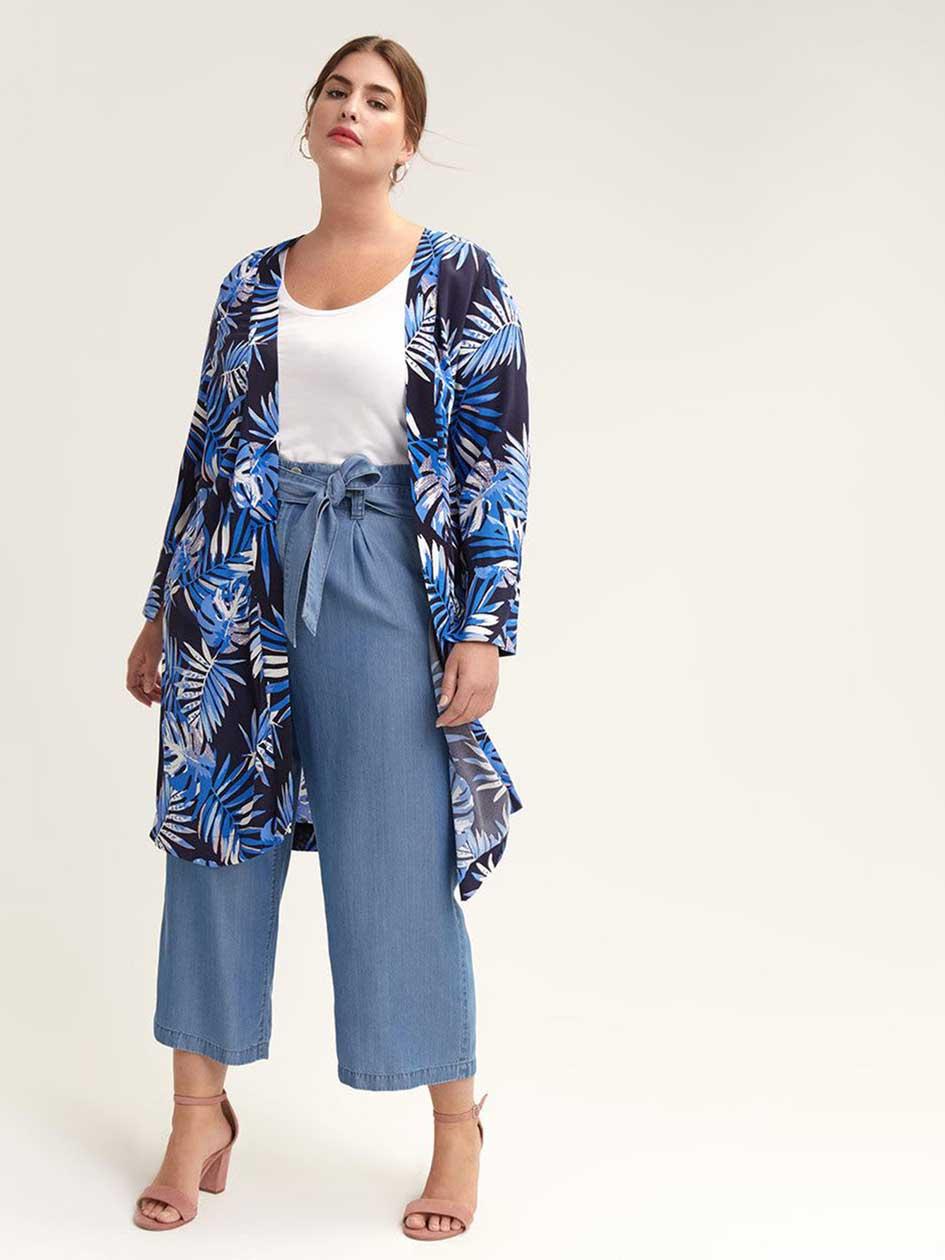 bb2e68ff9bb8b9 Kimono Jacket with Print