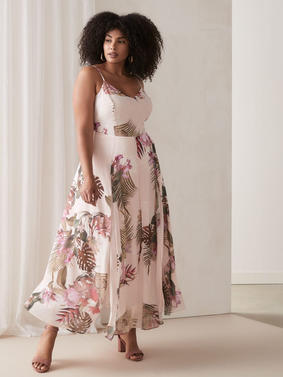 c514c42f795 Maxi Dress with Floral Print - City Chic